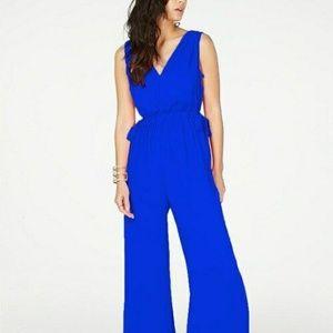 Thalia Sodi Women's Tie-Waist V-Neck Jumpsuit Sz S